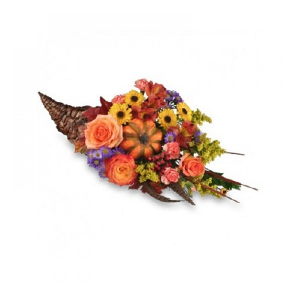 Cornucopia Centerpiece Thanksgiving Arrangement