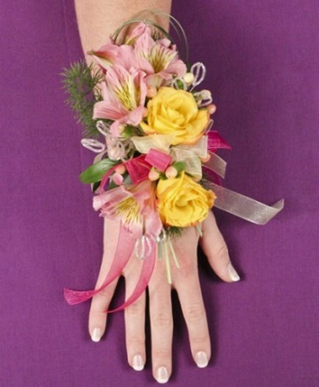 Pastel Potpourri Prom Corsage