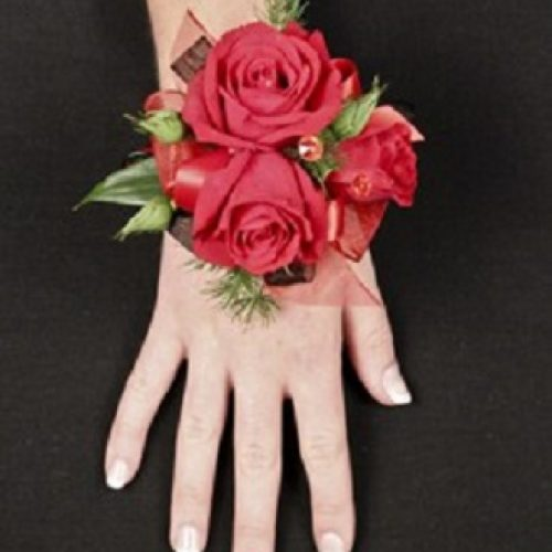 Putting On The Ritz Red Prom Corsage