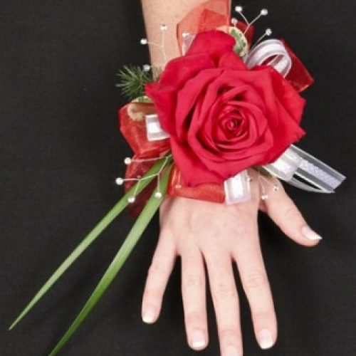 Romantic Red Rose Prom Corsage