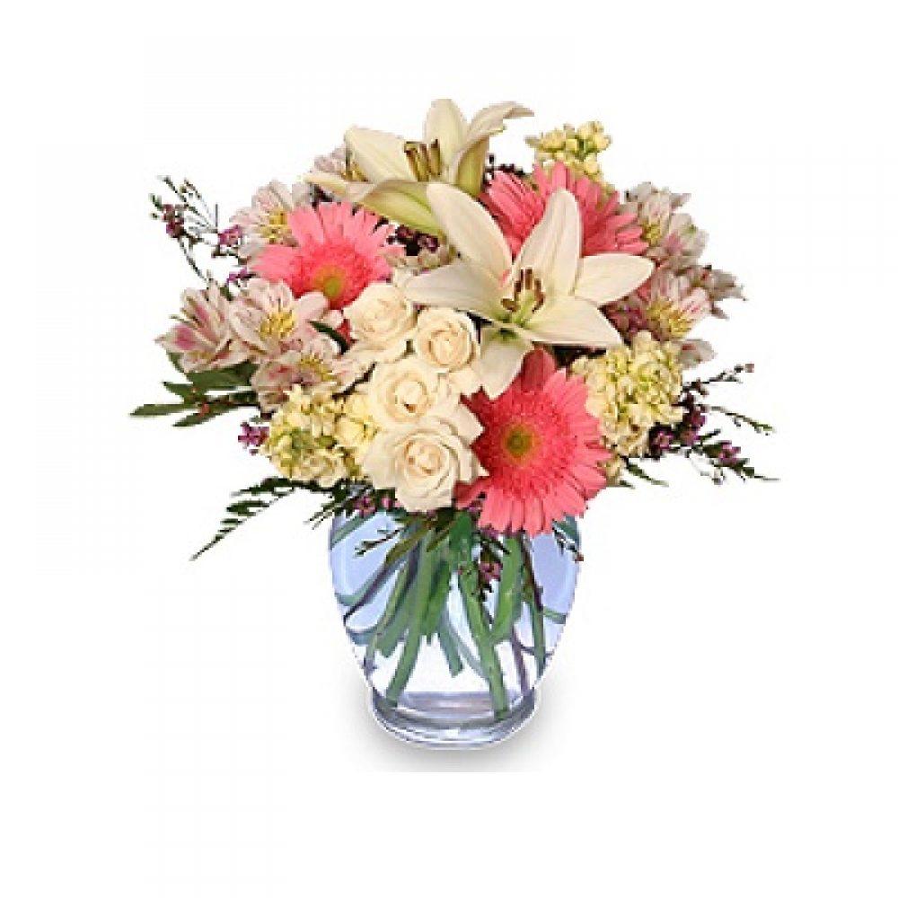 Welcome Baby Girl Flower Arrangement